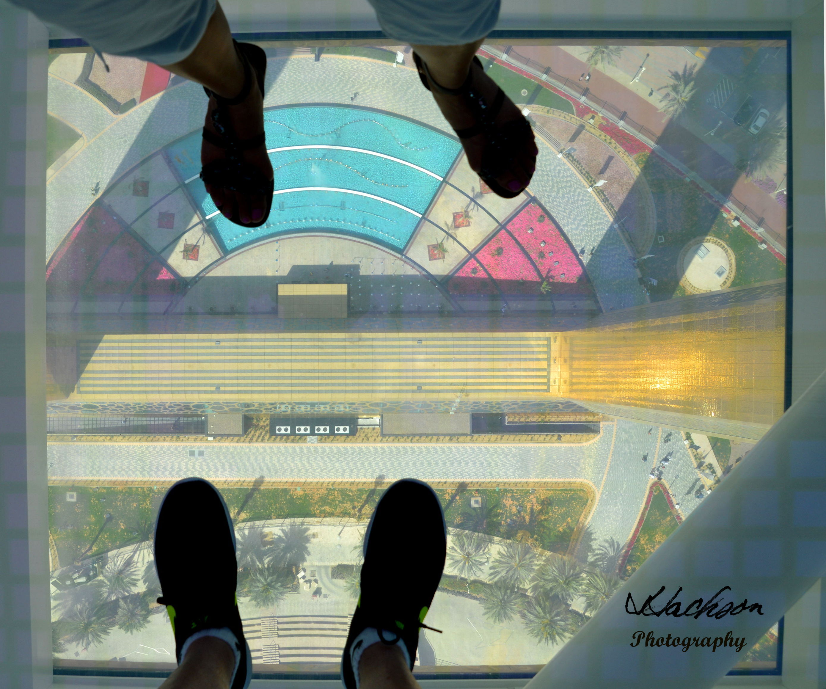 Photo of suspended over the see-thru floor