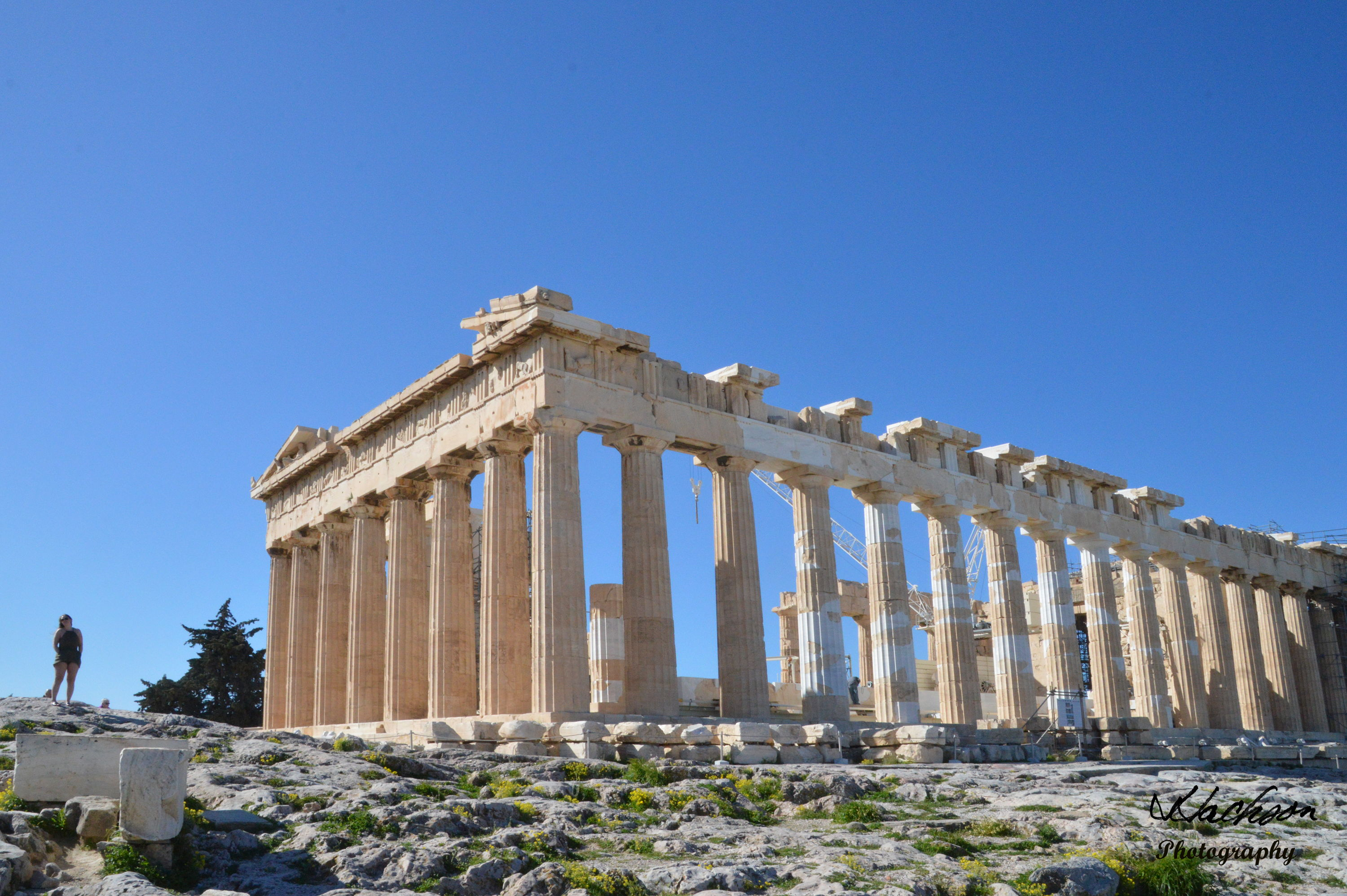 Photo of the Greek Parthenon at Athens