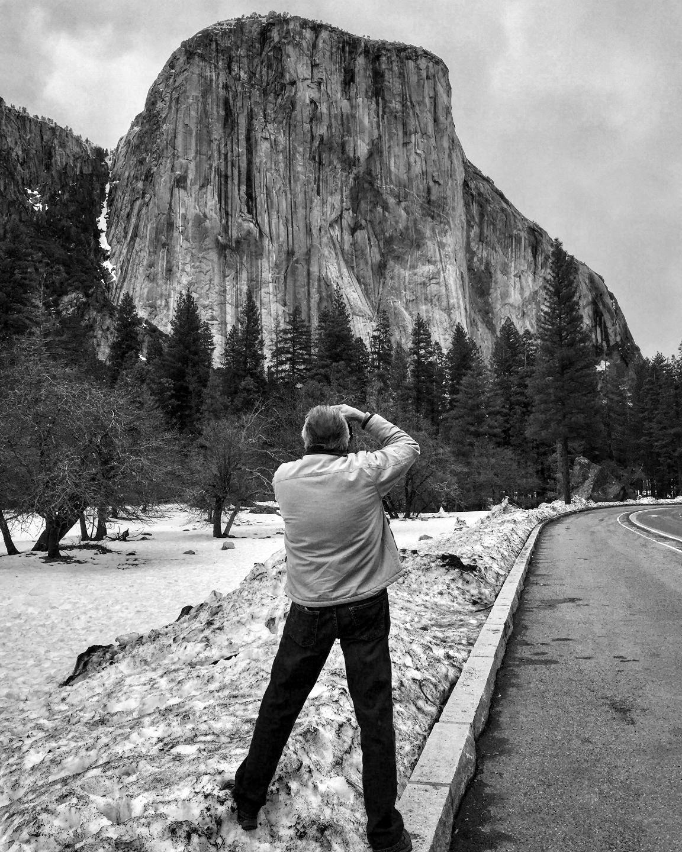 Photo of Jim Jackson taking photo of El Capitan