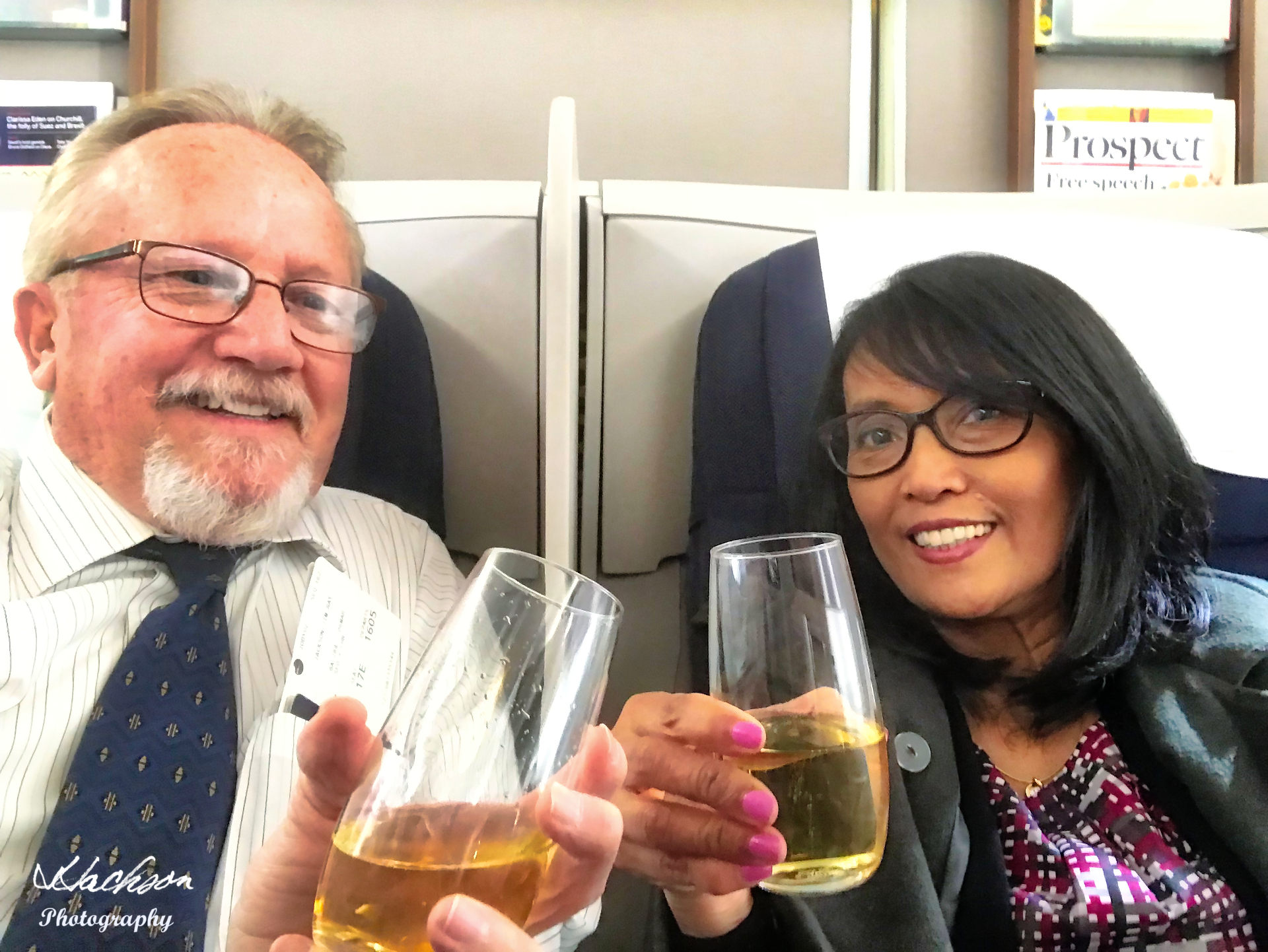 Photo of In business class on British Airways