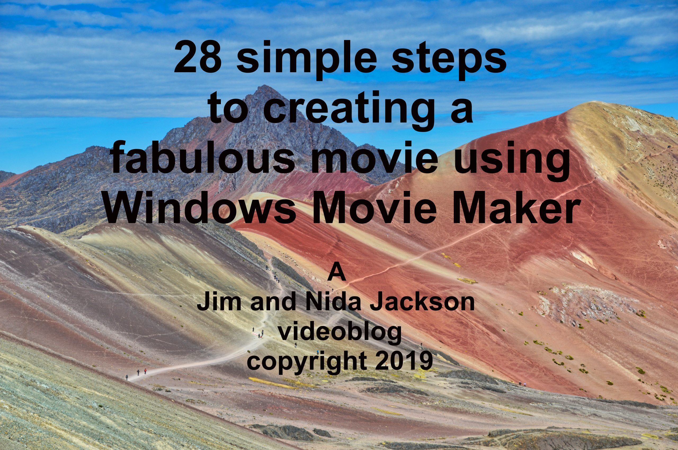 Photo of Title Page for making a Windows movie
