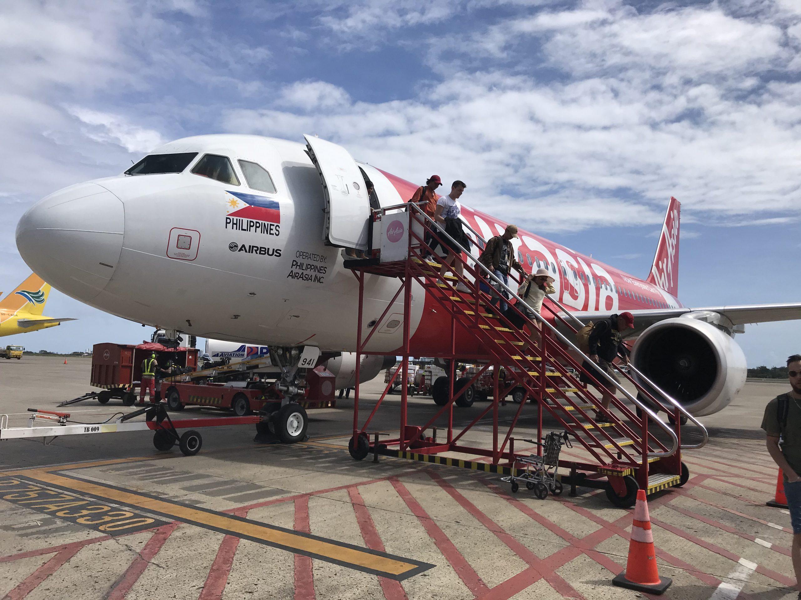 AirAsia jet at Cebu